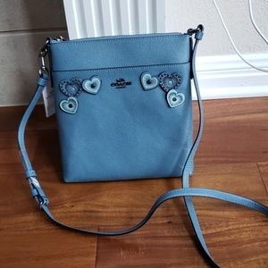 Coach heart messenger crossbody bag